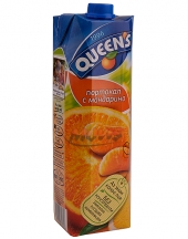 Fruit juice Queens orange and tangerine 1L