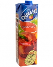 Fruit juice Queens peach 1L