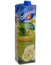 Fruit juice Queens green apple 1L