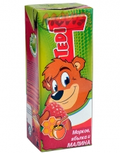 Fruit juice Tedi with carrot, apple and raspberry