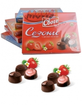 Chocolates Sezoni with strawberry flavour
