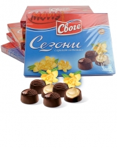Chocolates Sezoni with vanilla flavour