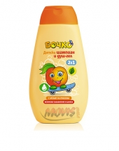 Bochko kids shampoo & shower gel with peach flavour