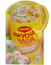 MAGGI® Tasty Cup Mushroom soup with croutons