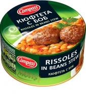 Rissoles in beans stew