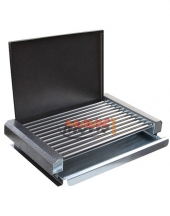 Electric Barbecue with lit