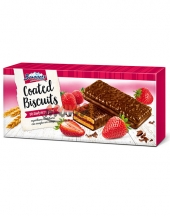 Chocolate Coated Biscuits with Strawberry Jam Borovets