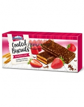 Coated Biscuits Borovets with Strawberry Jam