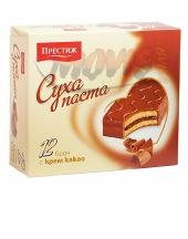 Суха паста Престиж с крем какао 12бр. в кутия