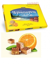 Chocolates Chernomorets with orange peels