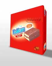 Mini cake Balkan with cacao box 12 pieces