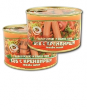 Frankfurter in beans stew