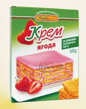 Powder cake cream strawberry flavour Radikom
