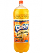 Carbonated drink Derby orangiada 3L
