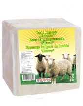 Goat milk white cheese vacuum Sitovo